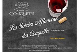 Domaine des Conquêtes Aniane | Carte Boissons et Tapas des Soirées After-Work