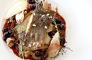 Le Grand Large Balaruc est un restaurant de poissons avec des plats autour des poissons à la carte, ici Pavé de maigre au beurre d'agrumes (® SAAM-Fabrice Chort)