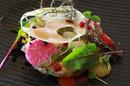 Restaurant Le Grand Large Balaruc est un restaurant gastronomique avec des spécialités de poissons, ici Tartare de Saint-Jacques (® SAAM-fabrice Chort)